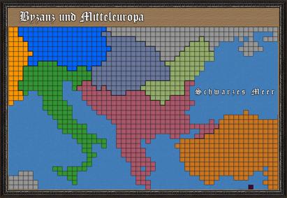Karte von Byzanz und Mitteleuropa